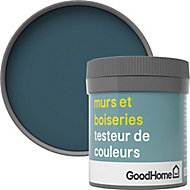 Testeur peinture murs et boiseries GoodHome bleu Antibes satin 50ml