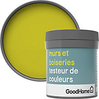 Testeur peinture murs et boiseries GoodHome vert Cabra satin 50ml