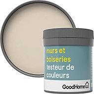 Testeur peinture murs et boiseries GoodHome beige Fairbanks satin 50ml