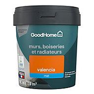 Peinture résistante murs, boiseries et métal GoodHome orange Valencia mat 0,75L