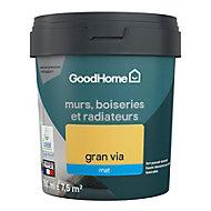 Peinture résistante murs, boiseries et métal GoodHome jaune Gran Via mat 0,75L