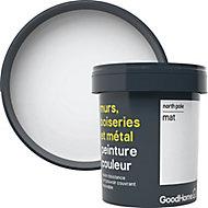 Peinture résistante murs, boiseries et métal GoodHome blanc North Pole mat 0,75L