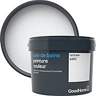 Peinture salle de bains GoodHome blanc North Pole satin 2,5L