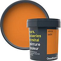 Peinture résistante murs, boiseries et métal GoodHome orange Valencia satin 0,75L