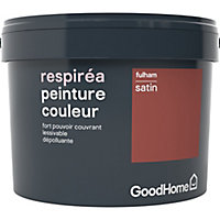 Peinture GoodHome Respiréa rouge Fulham satin 2,5L
