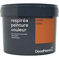 Peinture GoodHome Respiréa orange Aravaca satin 2,5L
