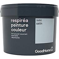 Peinture GoodHome Respiréa bleu Toulon satin 2,5L
