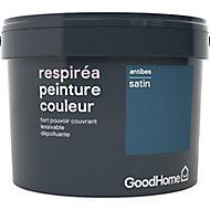 Peinture GoodHome Respiréa bleu Antibes satin 2,5L