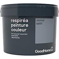 Peinture GoodHome Respiréa gris Cincinnati satin 2,5L