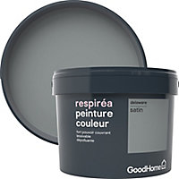Peinture GoodHome Respiréa gris Delaware satin 2,5L