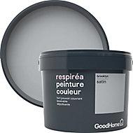 Peinture GoodHome Respiréa gris Brooklyn satin 2,5L