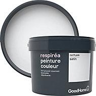 Peinture GoodHome Respiréa blanc North Pole satin 2,5L
