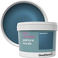 Peinture à effet métallisé GoodHome bleu Laguna Beach 2L