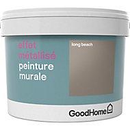 Peinture à effet métallisé GoodHome beige Long Beach 2L