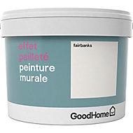 Peinture à effet paillettes GoodHome blanc Fairbanks 2L