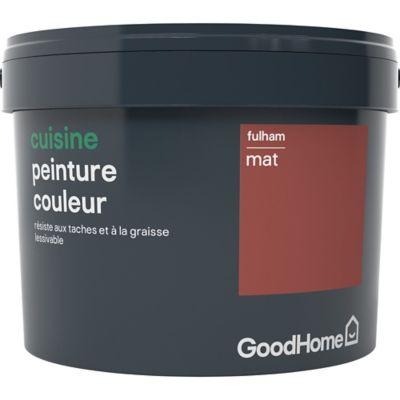 Peinture Cuisine Goodhome Rouge Fulham Mat 2 5l Castorama