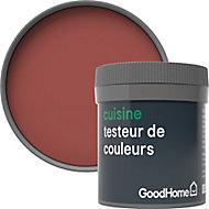 Testeur peinture cuisine GoodHome rouge Fulham mat 50ml