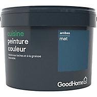 Peinture cuisine GoodHome bleu Antibes mat 2,5L