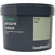 Peinture cuisine GoodHome vert Limerick mat 2,5L