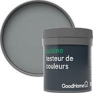 Testeur peinture cuisine GoodHome gris Delaware mat 50ml