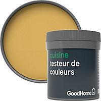 Testeur peinture cuisine GoodHome jaune Chueca mat 50ml