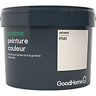 Peinture cuisine GoodHome blanc Ottawa mat 2,5L