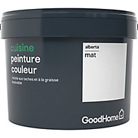 Peinture cuisine GoodHome blanc Alberta mat 2,5L