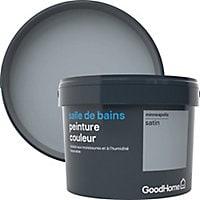 Peinture salle de bains GoodHome gris Minneapolis satin 2,5L
