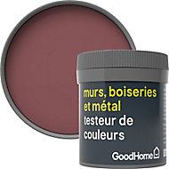 Testeur peinture résistante murs, boiseries et métal GoodHome rouge Kensington mat 50ml