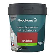 Peinture résistante murs, boiseries et métal GoodHome rouge Chelsea satin 0,75L