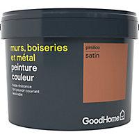 Peinture résistante murs, boiseries et métal GoodHome rouge Pimlico satin 2,5L
