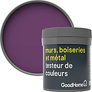 Testeur peinture résistante murs, boiseries et métal GoodHome violet Shizuoka mat 50ml
