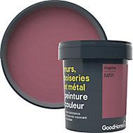 Peinture résistante murs, boiseries et métal GoodHome violet Magome satin 0,75L