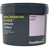 Peinture résistante murs, boiseries et métal GoodHome violet Hokkaido satin 2,5L