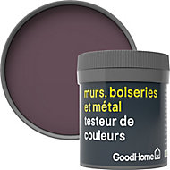 Testeur peinture résistante murs, boiseries et métal GoodHome rouge Mayfair mat 50ml