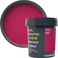 Peinture résistante murs, boiseries et métal GoodHome rose Himonya satin 0,75L