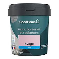Peinture résistante murs, boiseries et métal GoodHome rose Hyogo mat 0,75L