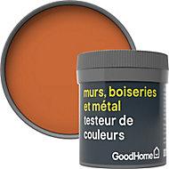 Testeur peinture résistante murs, boiseries et métal GoodHome orange Aravaca mat 50ml