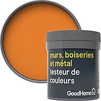 Testeur peinture résistante murs, boiseries et métal GoodHome orange Valencia mat 50ml