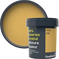 Peinture résistante murs, boiseries et métal GoodHome jaune Chueca mat 0,75L