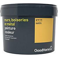 Peinture résistante murs, boiseries et métal GoodHome jaune Gran Via satin 2,5L