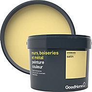 Peinture résistante murs, boiseries et métal GoodHome jaune Andalusia satin 2,5L