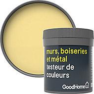 Testeur peinture résistante murs, boiseries et métal GoodHome jaune Andalusia mat 50ml