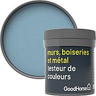 Testeur peinture résistante murs, boiseries et métal GoodHome bleu Monaco mat 50ml