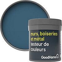 Testeur peinture résistante murs, boiseries et métal GoodHome bleu Antibes mat 50ml