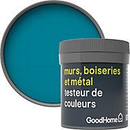 Testeur peinture résistante murs, boiseries et métal GoodHome bleu Marseille mat 50ml