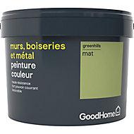 Peinture résistante murs, boiseries et métal GoodHome vert Greenhills mat 2,5L