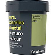 Peinture résistante murs, boiseries et métal GoodHome vert Greenhills mat 0,75L