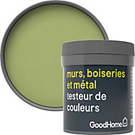 Testeur peinture résistante murs, boiseries et métal GoodHome vert Greenhills mat 50ml