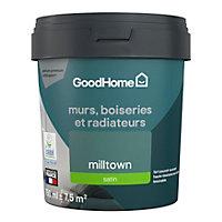 Peinture résistante murs, boiseries et métal GoodHome vert Milltown satin 0,75L